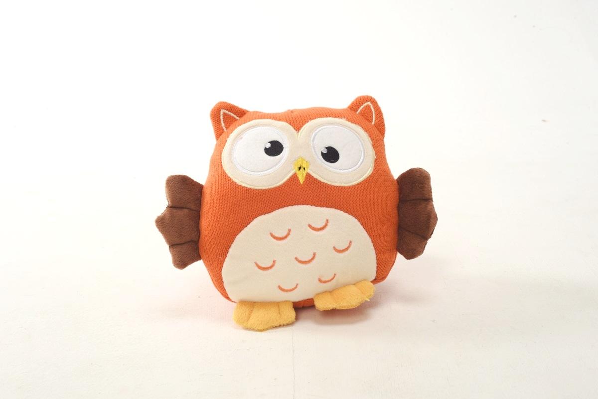Плюш Ленд Мягкая игрушка Совиные настроения цвет оранжевый 21 см мягкие игрушки плюш ленд мягкая игрушка енотик крошка 23см