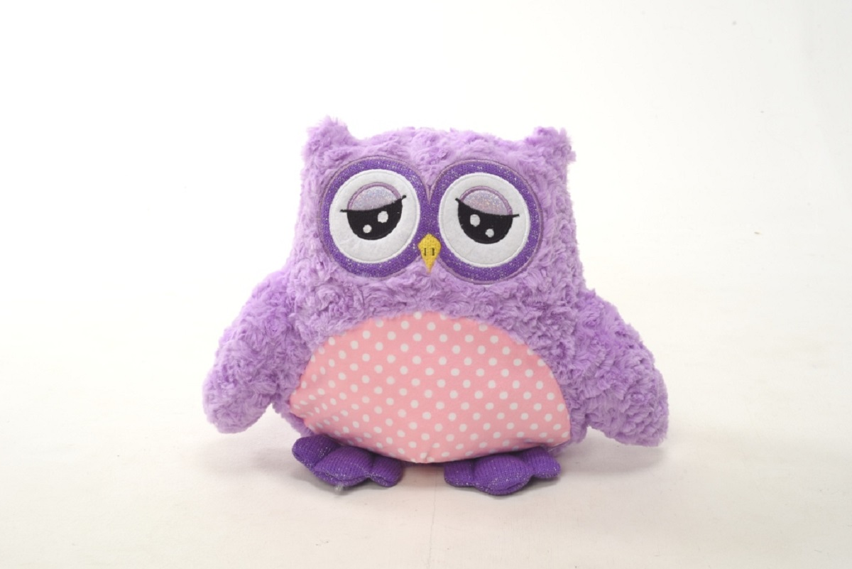 Плюш Ленд Мягкая игрушка Совиные настроения цвет фиолетовый 35 см мягкие игрушки плюш ленд мягкая игрушка енотик крошка 23см