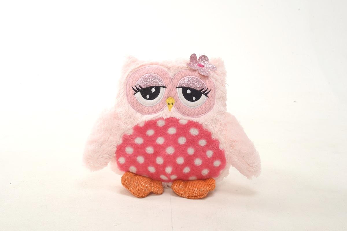 Плюш Ленд Мягкая игрушка Совиные настроения цвет розовый 29 см мягкие игрушки плюш ленд мягкая игрушка енотик крошка 23см