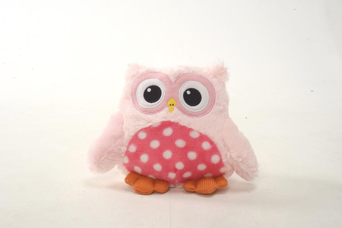 Плюш Ленд Мягкая игрушка Совиные настроения цвет розовый 20 см мягкие игрушки плюш ленд мягкая игрушка енотик крошка 23см