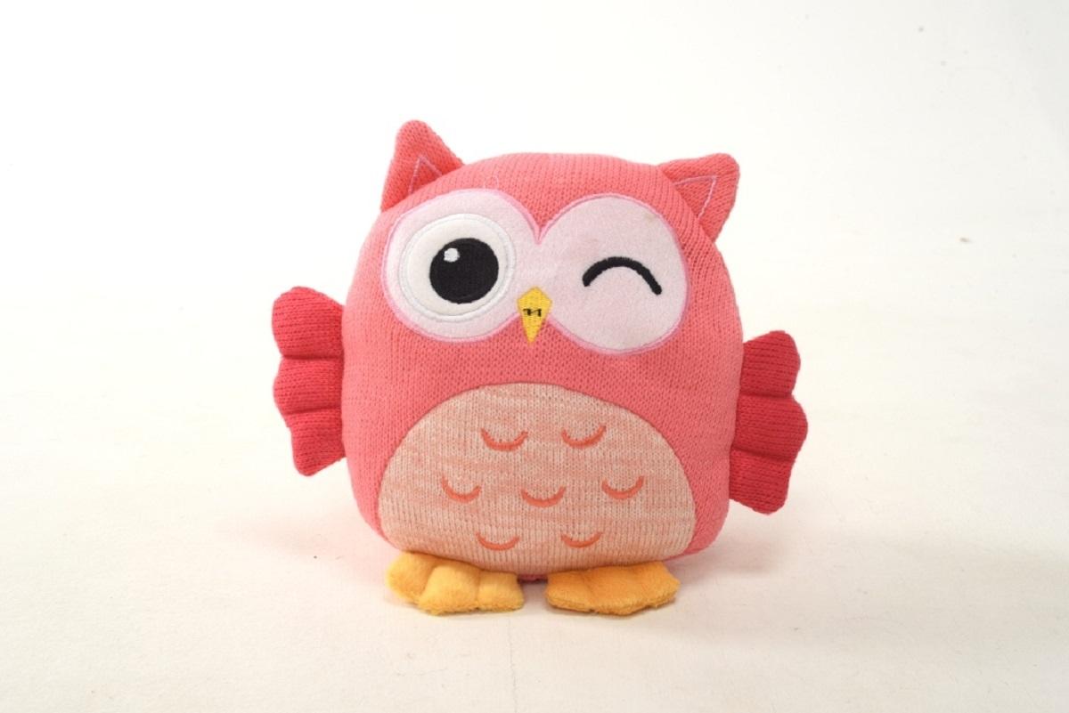 Плюш Ленд Мягкая игрушка Совиные настроения цвет розовый 21 см мягкие игрушки плюш ленд мягкая игрушка енотик крошка 23см