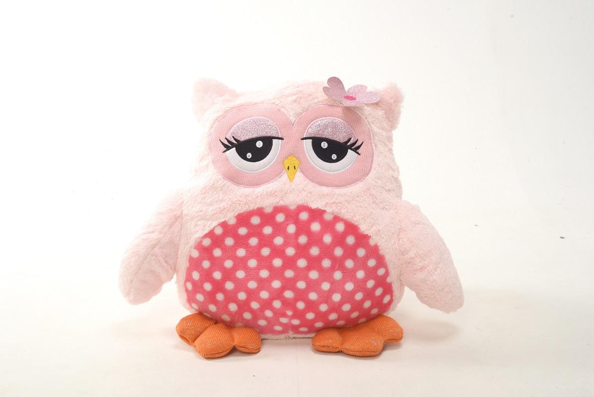 Плюш Ленд Мягкая игрушка Совиные настроения цвет розовый 45 см мягкие игрушки плюш ленд мягкая игрушка енотик крошка 23см