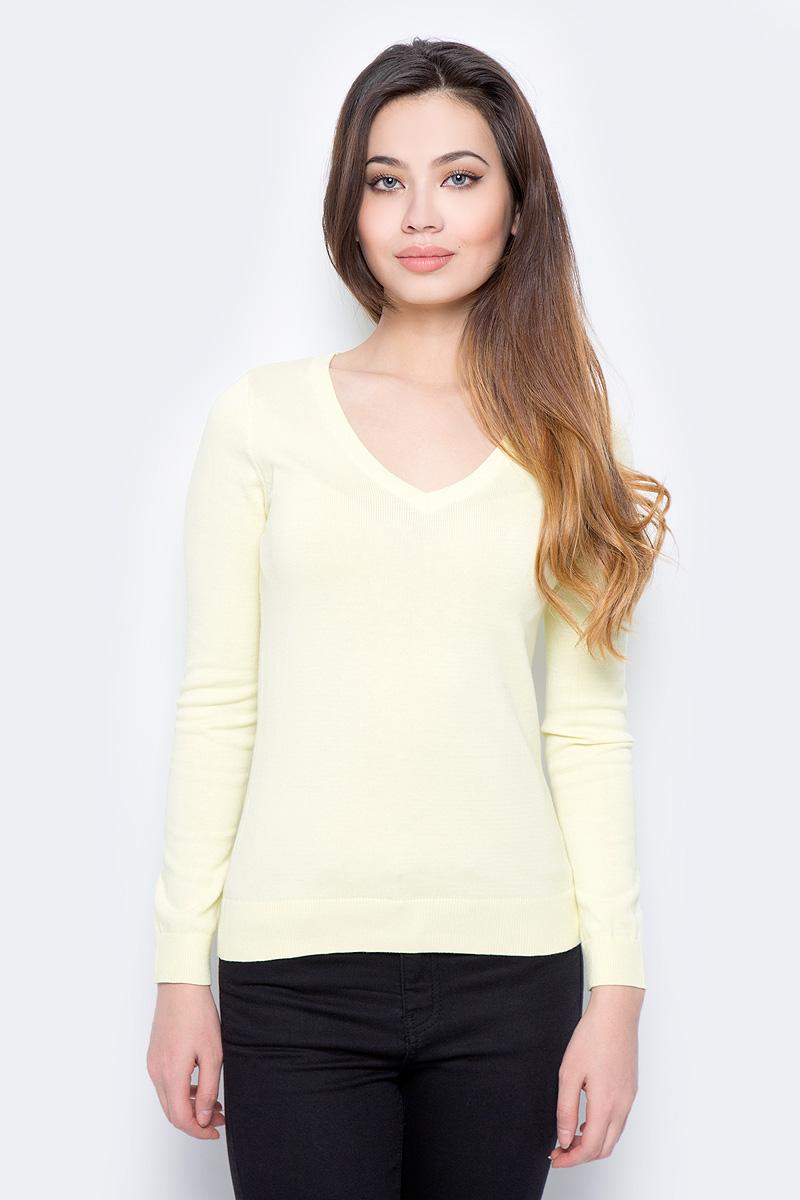 Пуловер женский Sela, цвет: нежно-желтый. JR-114/692-8182. Размер XXL (52)