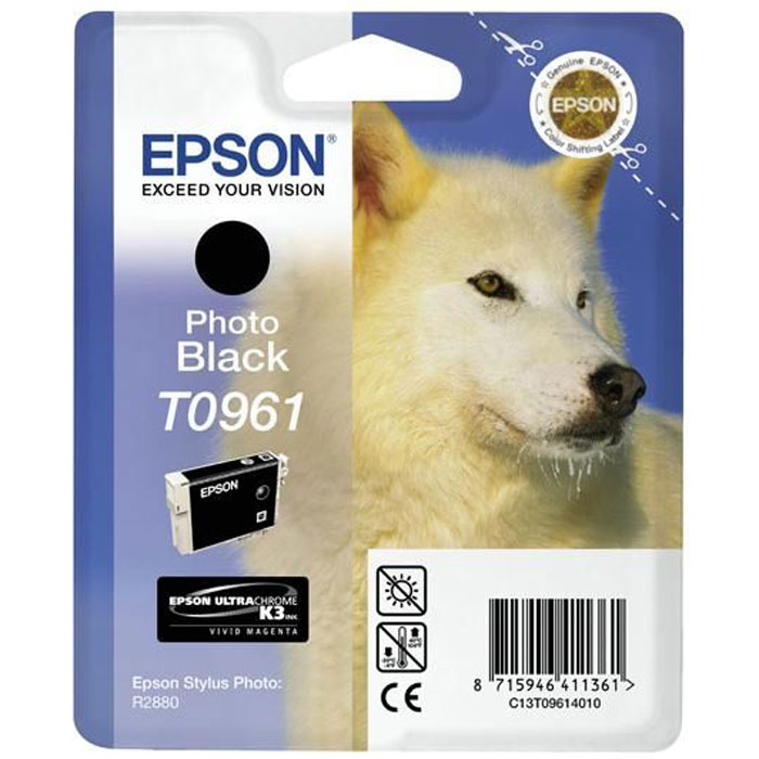 Epson C13T09614010, Photo Black картридж для Stylus Photo R2880 картридж epson t009402 для epson st photo 900 1270 1290 color 2 pack