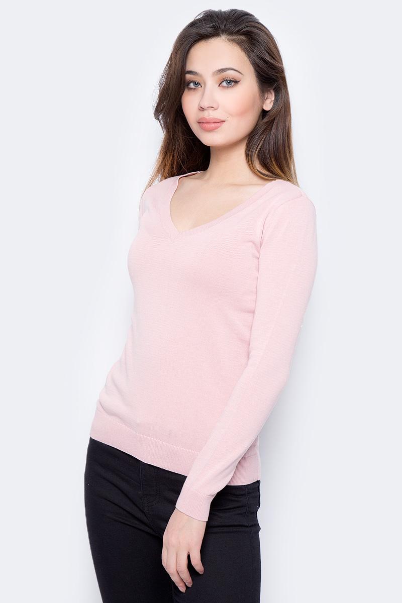 Пуловер женский Sela, цвет: серебристо-розовый. JR-114/692-8182. Размер XL (50)
