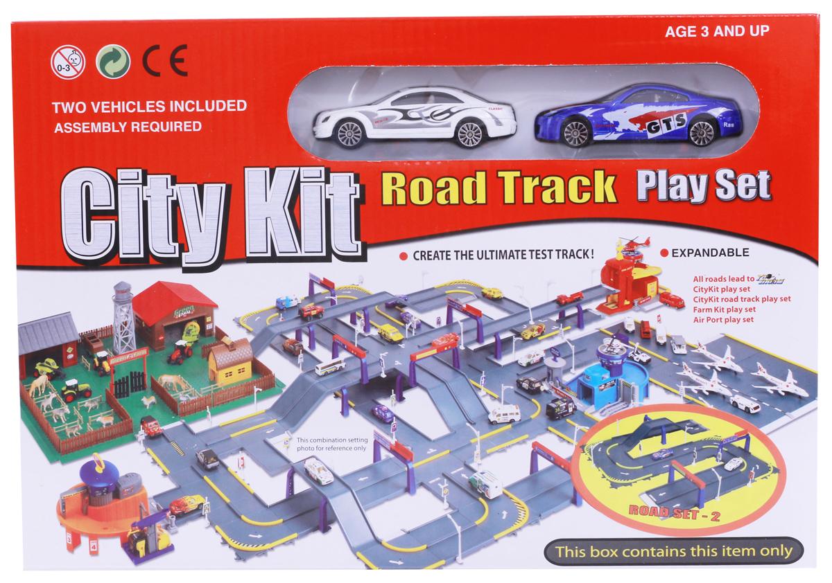 Pioneer Toys Набор машин с гаражом Road Set 2
