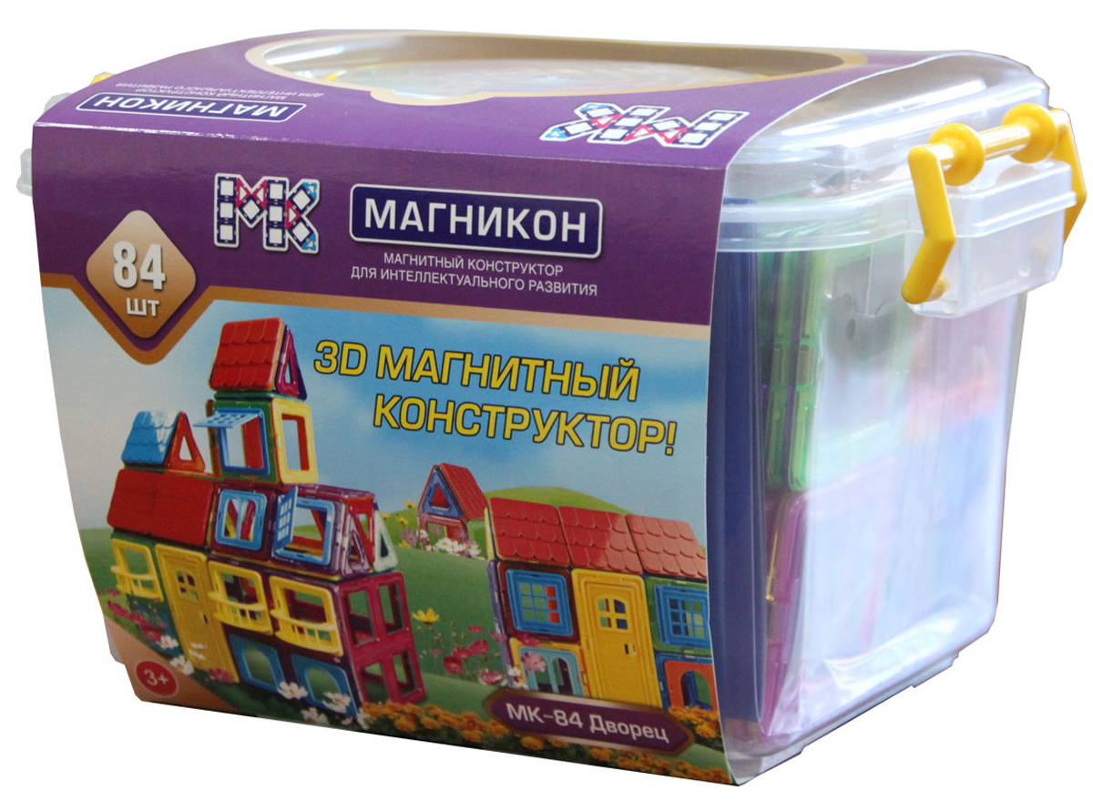 Магникон Конструктор Дворец деревянный конструктор кукольный домик