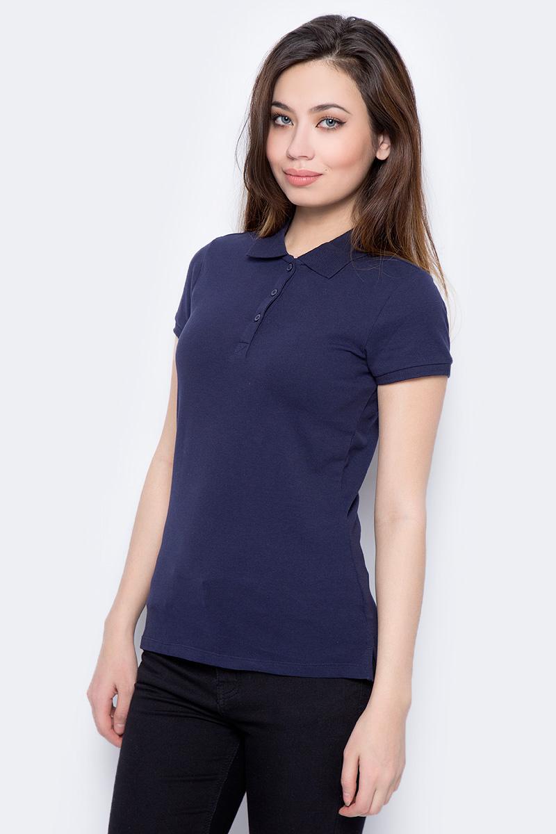 Поло женское Sela, цвет: темно-синий. Tsp-111/339-8182. Размер XXS (40) поло sela sela se001ebqnz89