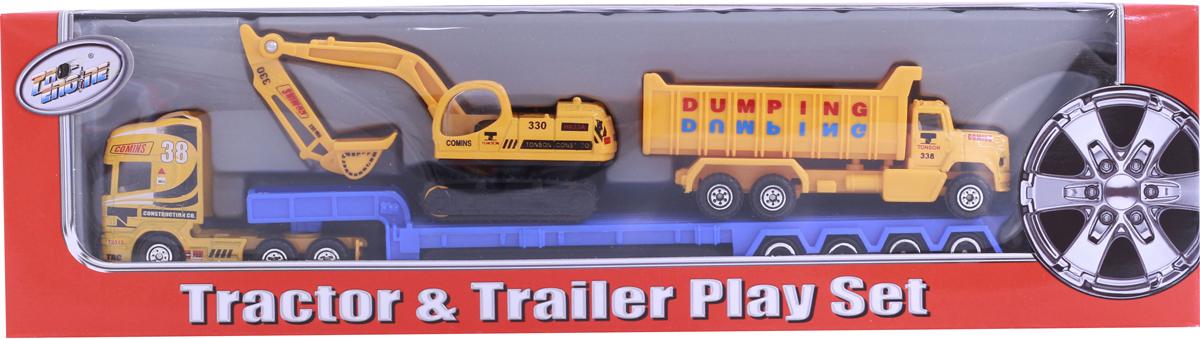 Pioneer Toys Набор спецтехники на трейлере pioneer toys набор машин фура