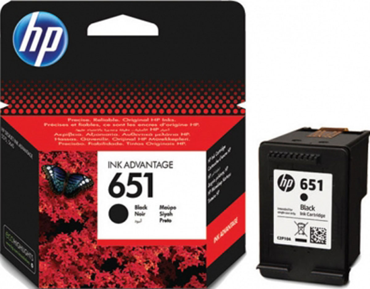 HP C2P10AE (651), Black картридж для HP DeskJet Ink Advantage 5645/5575 мфу hp deskjet ink advantage ultra 2529 k7w 99 a