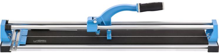 Плиткорез ручной БАРС, каретка на подшипниках, усиленная рукоятка, 1000 х 14 мм87584Плиткорез предназначен для резки керамической (кафельной) плитки и плитки из керамогранита размером до 1000 мм. Глубина реза — в диапазоне от 5 до 14 мм. Каретка, скользящая по двум трубчатым направляющим, оснащена двумя цилиндрическими подшипниками. Это гарантирует ее идеальное перемещение и, как следствие, высокое качество реза.Металлическая линейка с угломером обеспечивает точное соблюдение размеров и возможность реза под углом.