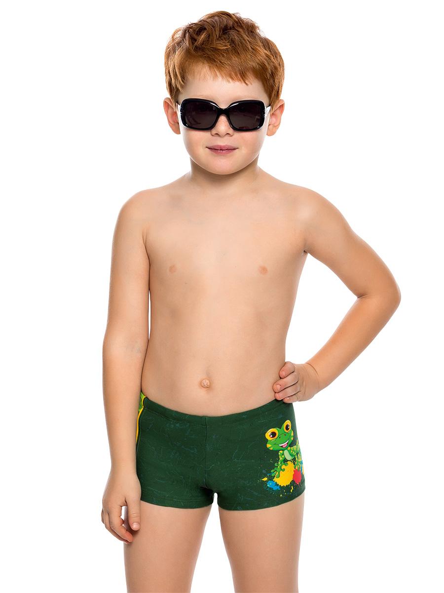 Купальные плавки для мальчика Arina Nirey, цвет: темно-зеленый. BX 081803. Размер 116/122