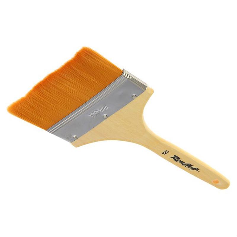 Roubloff Кисть синтетика № 120ЖСФ-120,2БФлейц мягкий из синтетики на деревяной короткой лакированной ручке.