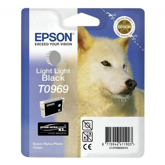 Epson C13T09694010, Light Light Black картридж для Stylus Photo R2880 картридж для принтера epson c13s050245 black