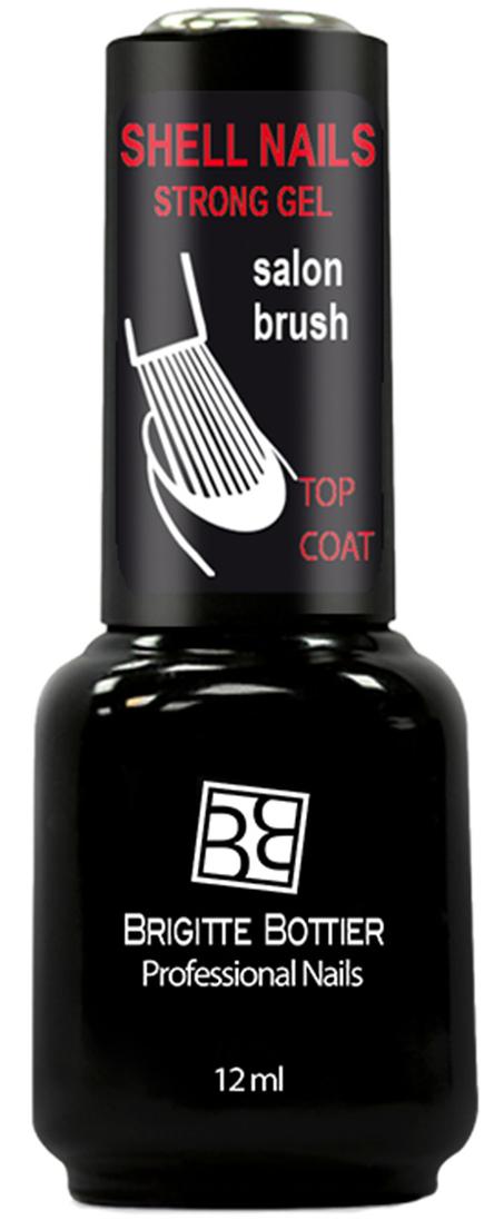 Brigitte Bottier лак для ногтей гелевый Shell Nails top coat, 12 мл