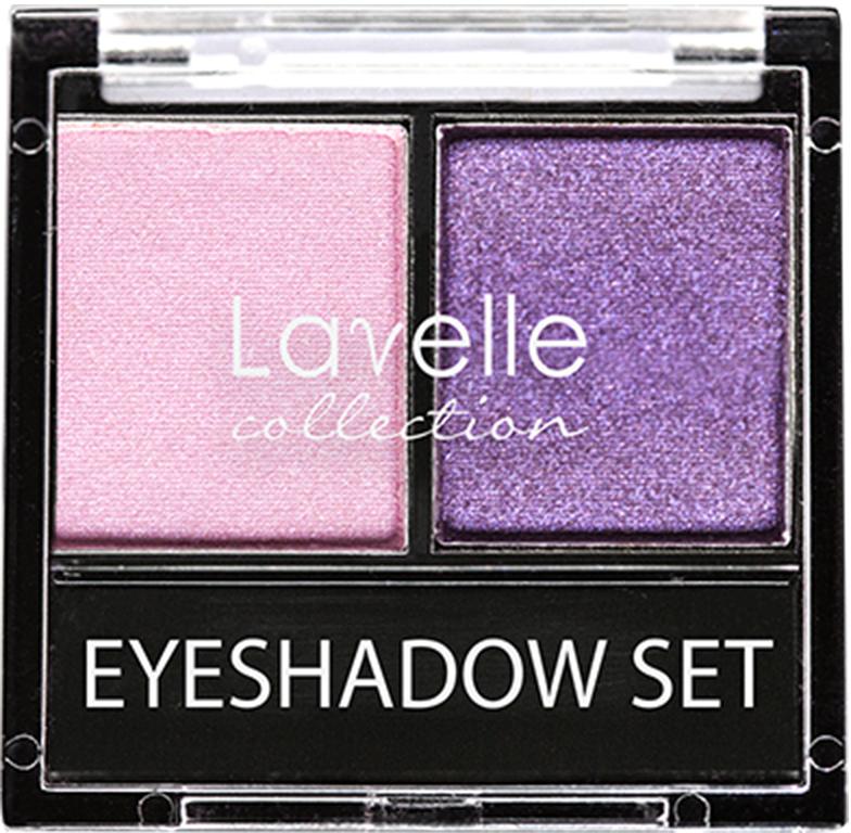 LavelleCollection тени ES-28 двойные тон 10 розово-фиолетовый, 20 г
