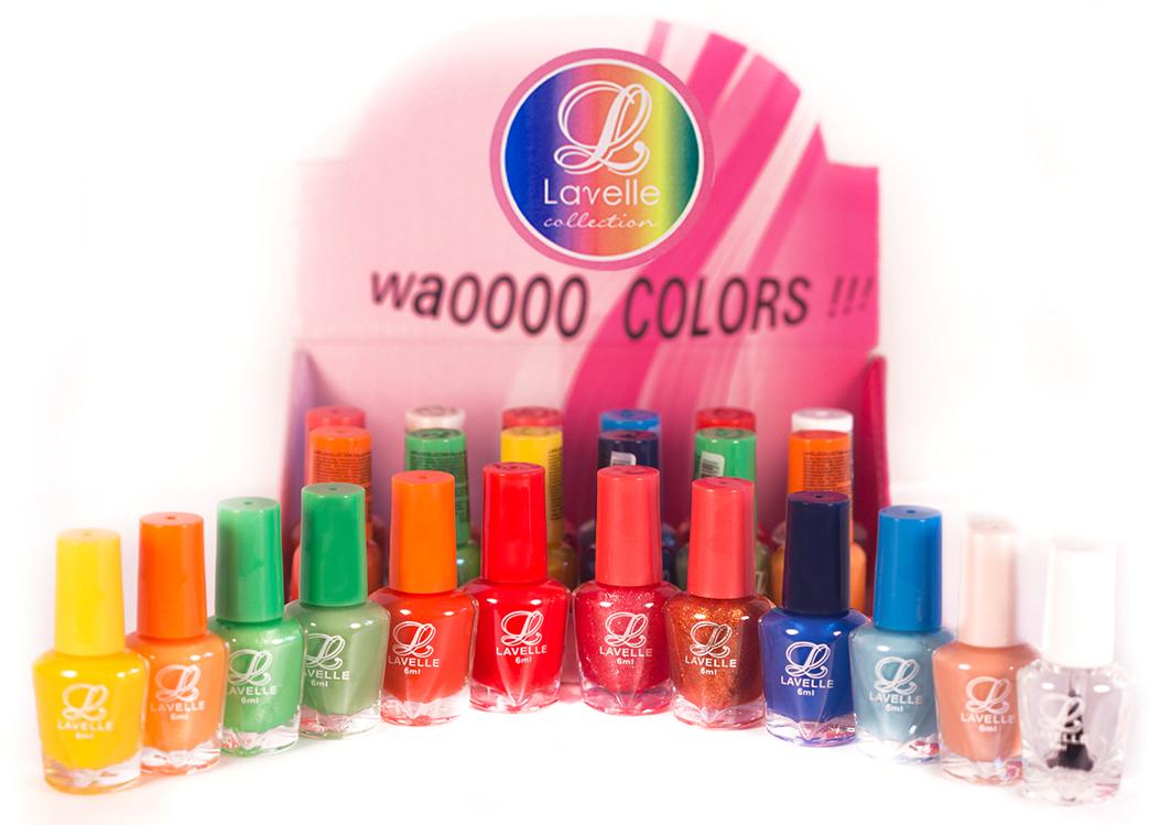 LavelleСollection лак для ногтей (мини-color) коллекция №18, 6 мл, 24 штLCB-18Коллекции лаков Lavelle Mini Color — это многообразие оттенков и фактур. В каждой коллекции 12 цветов по 2 каждого (всего 24 флакончика по 6 мл). Элегантные нюдовые оттенки, пастельные, яркие и сочные, с блестками и перламутром – все что нужно для Вашего идеального имиджа. Каждая коллекция подобрана с учетом стилей, цветов и сезонов.