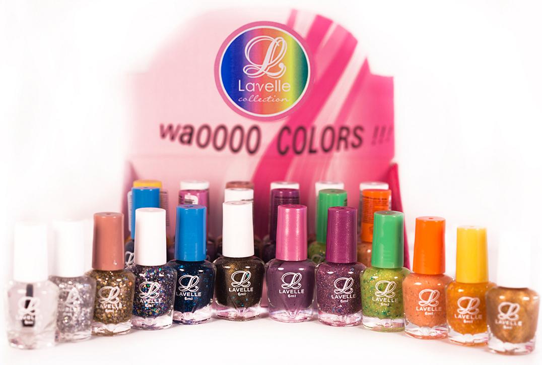 LavelleСollection лак для ногтей (мини-color) коллекция №27 блестки, 6 мл, 24 штLCB-27Коллекции лаков Lavelle Mini Color — это многообразие оттенков и фактур. В каждой коллекции 12 цветов по 2 каждого (всего 24 флакончика по 6 мл). Элегантные нюдовые оттенки, пастельные, яркие и сочные, с блестками и перламутром – все что нужно для Вашего идеального имиджа. Каждая коллекция подобрана с учетом стилей, цветов и сезонов.