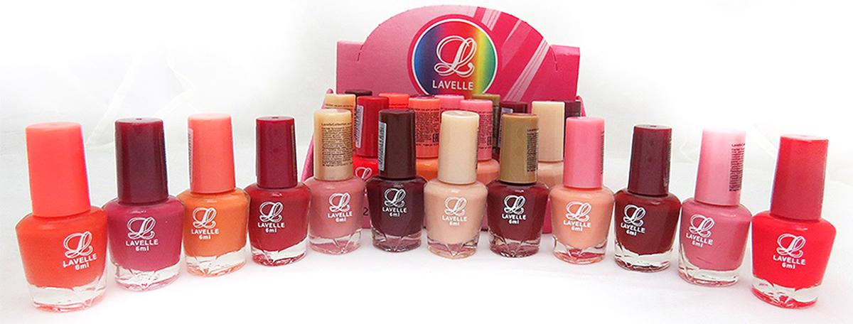 LavelleСollection лак для ногтей (мини-color) коллекция №32 пудровый, 6 мл, 24 шт - Декоративная косметика