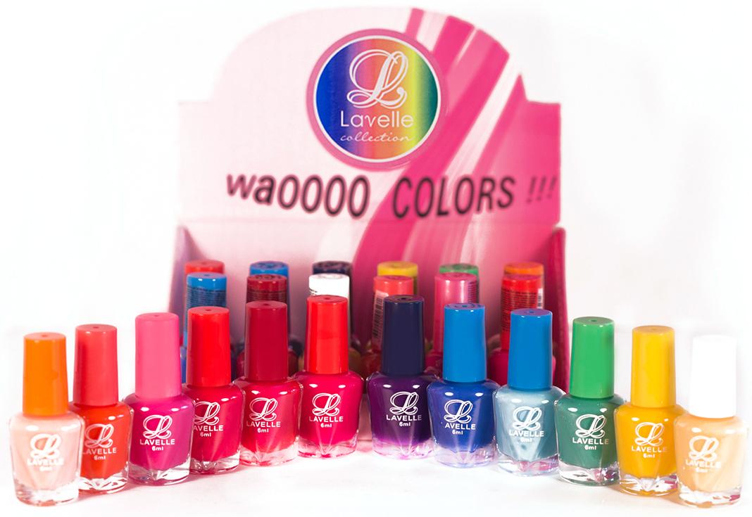 LavelleСollection лак для ногтей (мини-color) коллекция №36 весна-лето, 6 мл, 24 штLCB-36Коллекции лаков Lavelle Mini Color — это многообразие оттенков и фактур. В каждой коллекции 12 цветов по 2 каждого (всего 24 флакончика по 6 мл). Элегантные нюдовые оттенки, пастельные, яркие и сочные, с блестками и перламутром – все что нужно для Вашего идеального имиджа. Каждая коллекция подобрана с учетом стилей, цветов и сезонов.