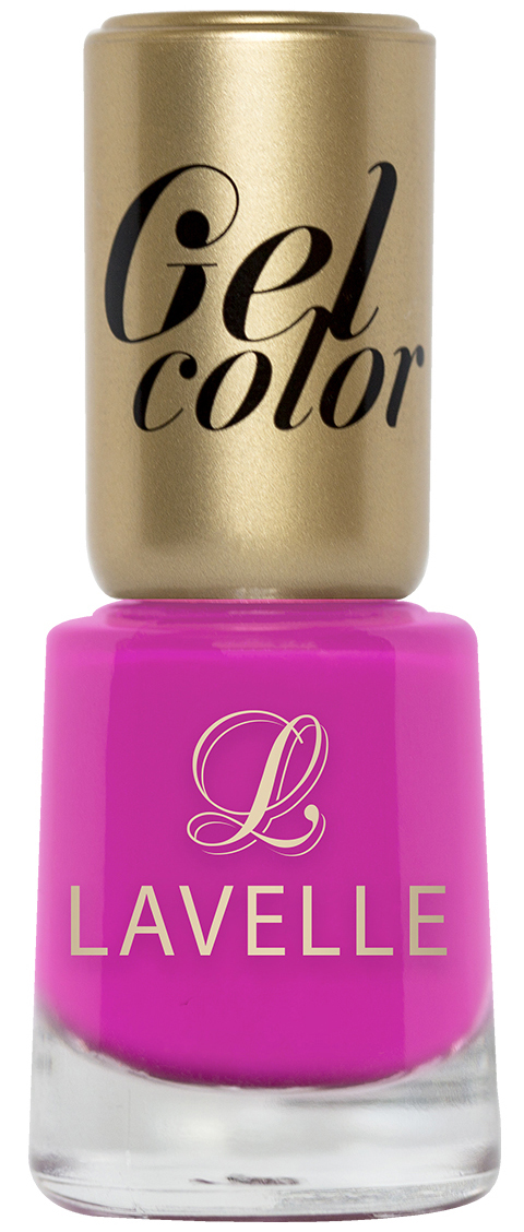 LavelleСollection лак для ногтей Gel Color тон 017 розовая фуксия, 12 мл