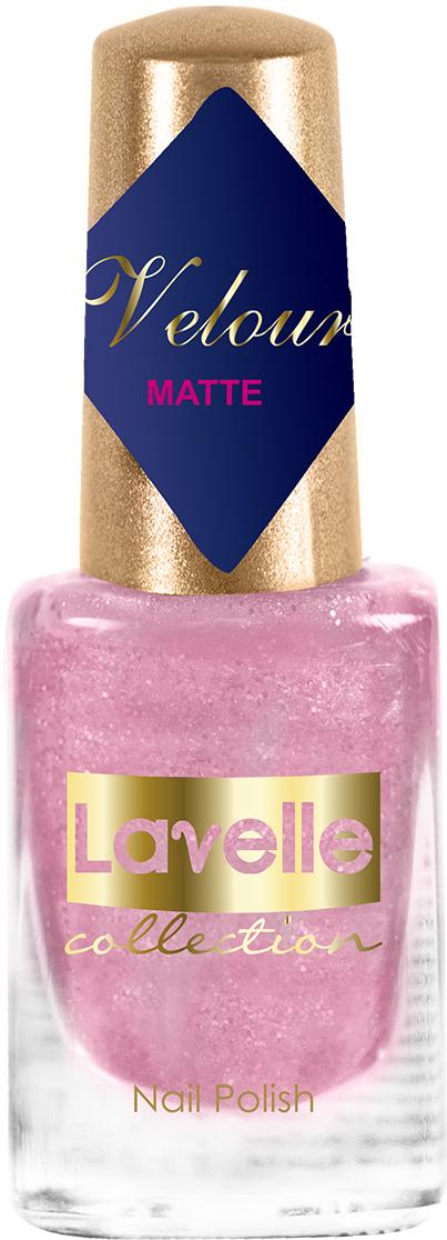 LavelleCollection лак для ногтей Velour тон 555 нежно-розовый искрящийся, 6 мл
