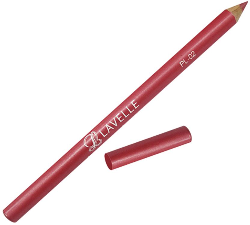 LavelleCollection Карандаш PL-02 тон 02 темно-красный, 4 г