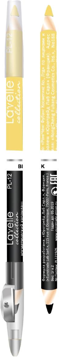 LavelleCollection Карандаш PL12 двойной с точилкой тон 11 черный+золотистый, 7 гPL12-11Двусторонние косметические карандаши PL 12 сочетают два оттенка: с одной стороны карандаш черный, с другой стороны цветной – идеальное решение для макияжа глаз и губ в одном карандаше. Нежная текстура карандаша обеспечивает мягкое скользящее нанесение и мгновенный эффект в одно касание. Разнообразие тонов в палитре позволит подобрать именно Ваш оттенок. Колпачок карандаша оснащен точилкой.
