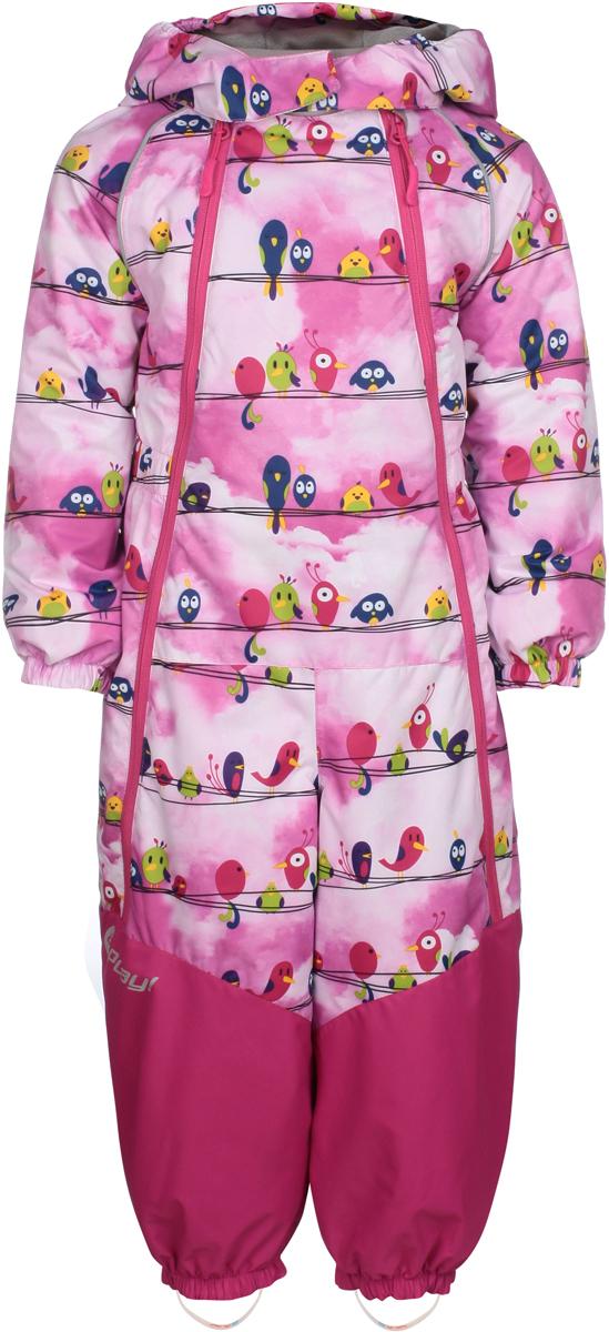 Комбинезон утепленный для девочек atPlay!, цвет: розовый. 1ov801. Размер 801ov801
