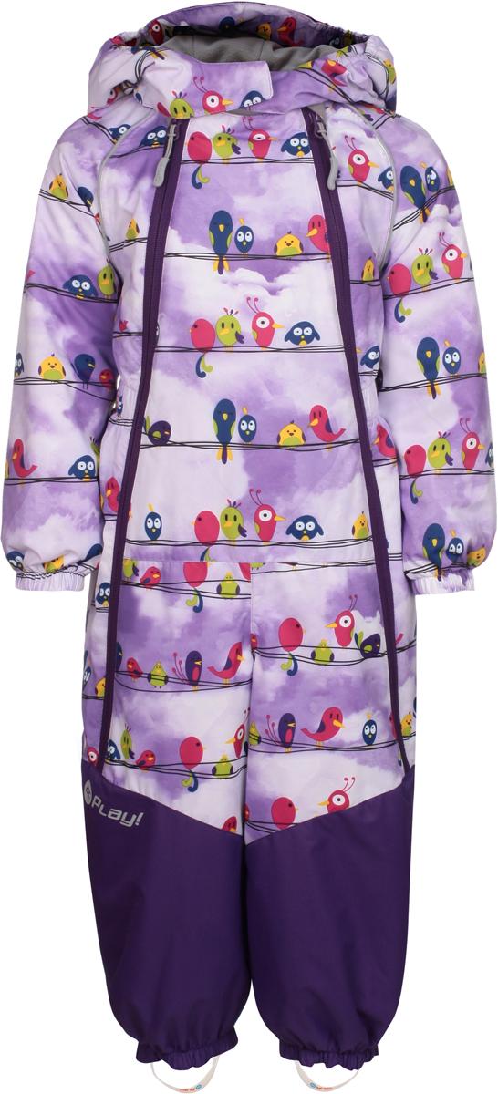 Комбинезон утепленный для девочек atPlay!, цвет: фиолетовый. 1ov801. Размер 86