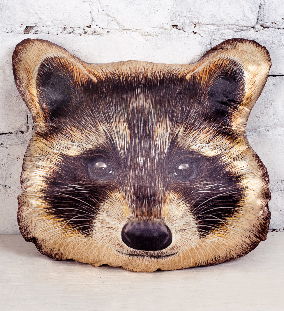 Плюш Ленд Подушка-игрушка Енот 40 см трикси игрушка для кошки енот плюш 12 см