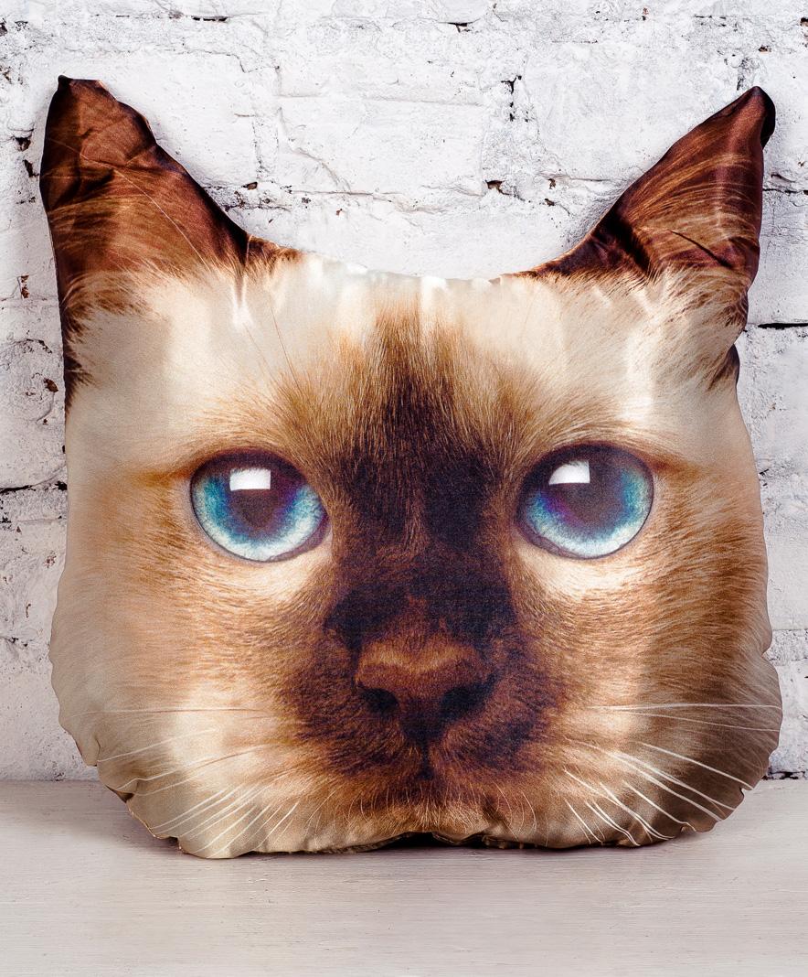 Плюш Ленд Подушка-игрушка Кошка сиамская 40 см куплю квартиру в ялте евпотории
