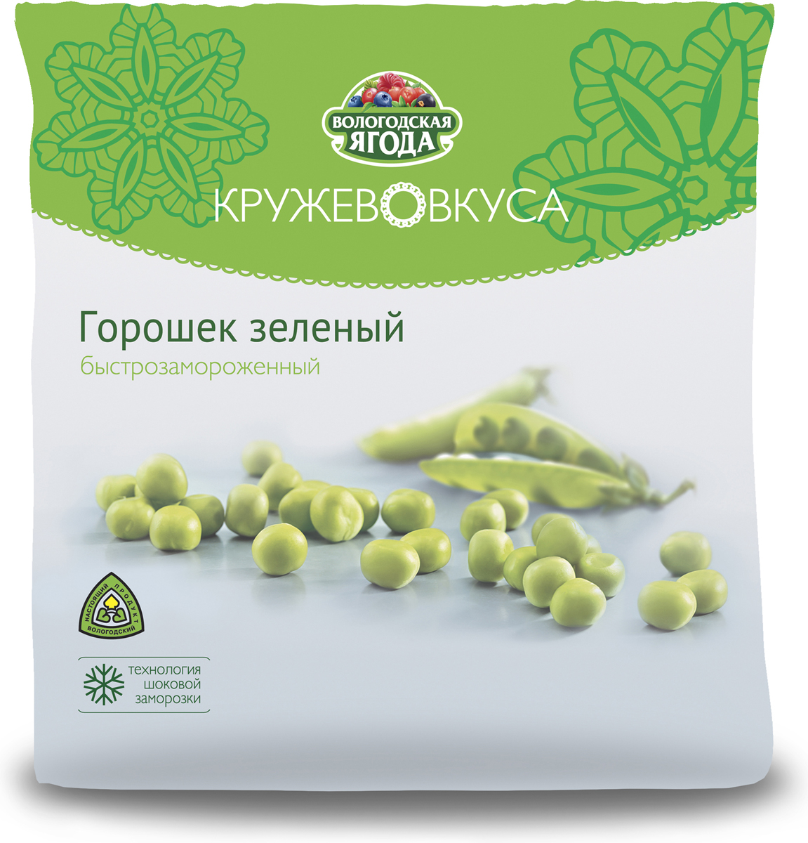 Кружево Вкуса Горошек зеленый, 400 гУТ000000127Яркий, полезный и очень позитивный – зелёный горошек любят все возрастные категории. Простор для творчества и фантазии огромен, когда речь идёт о приготовлении блюд из зелёного горошка. Овощные супы, гороховый суп, овощные рагу и гарниры, гороховая каша и ингредиент для салата.