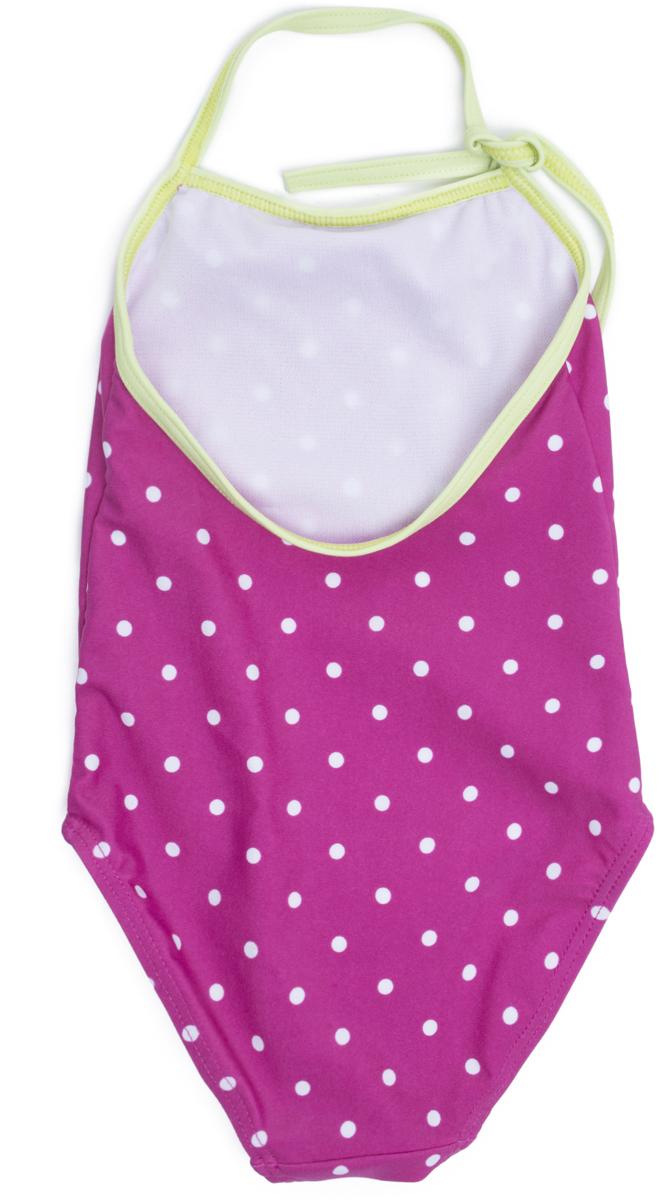 Купальник слитный для девочки PlayToday Baby Солнечная палитра, цвет:  розовый.  188077.  Размер 98 PlayToday