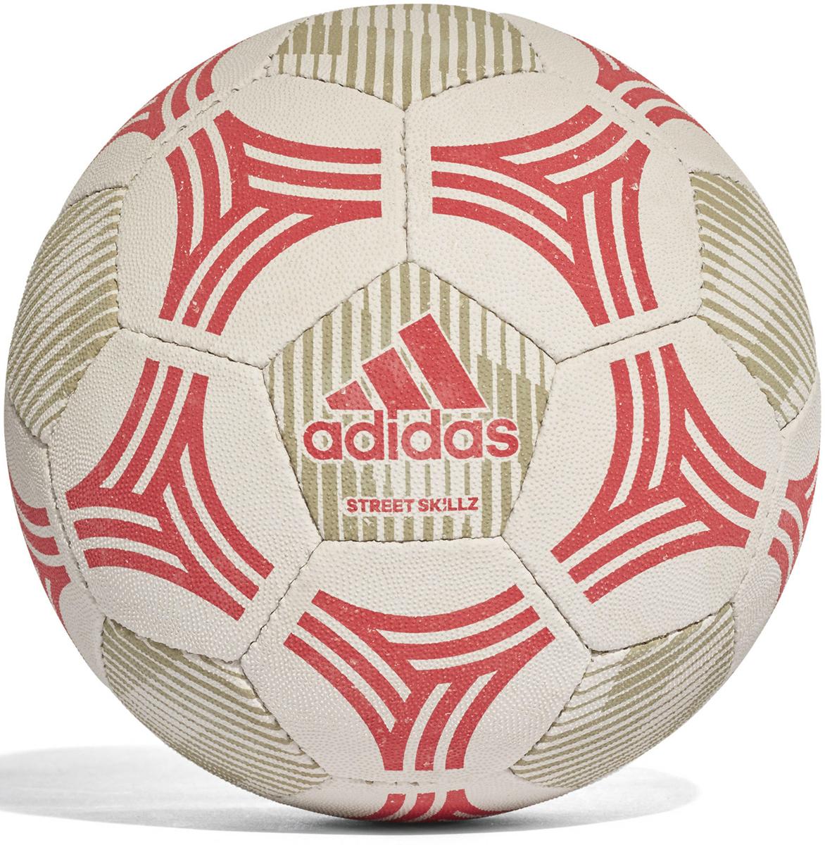 Мяч футбольный Adidas Tango Sala, цвет: серый, коралловыйCE9981Футбольный мяч для игры в зале, на твердой поверхности. Логотип Adidas.