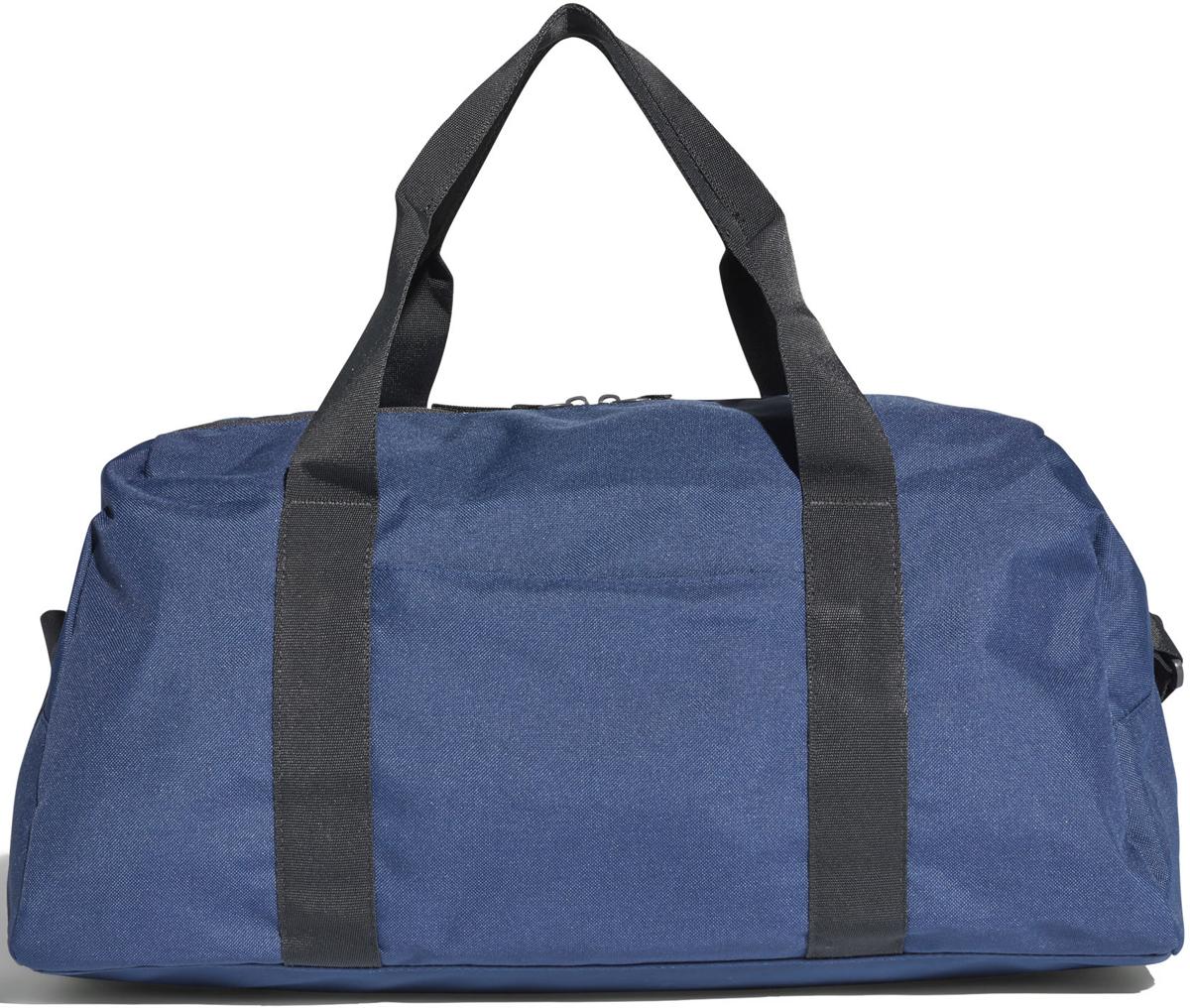 Сумка спортивная женская Adidas W TR CO DUF S, цвет: синий, 24 л. CF5213CF5213Эта женская спортивная сумка вмещает всю необходимую экипировку. Модельс большим основным отделением выполнена из прочного полиэстера идополнена множеством карманом для полезных мелочей. Модель имеетосновное отделение на молнии, сетчатые передние карманы, потайной заднийкарман на молнии. Внутри два открытых кармана. Сумка снабжена двойнымиручками и регулируемым наплечным ремнем. Модель декорированалоготипом adidas на лицевой стороне.