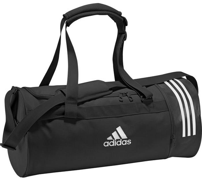Сумка спортивная мужская Adidas Cvrt 3S Duf M, цвет: черный, 37 л. CG1533