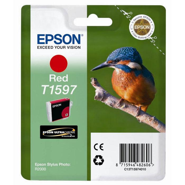 Epson C13T15974010, Red картридж для Stylus Photo R2000C13T15974010Картридж Epson с цветными чернилами для струйных принтеров.