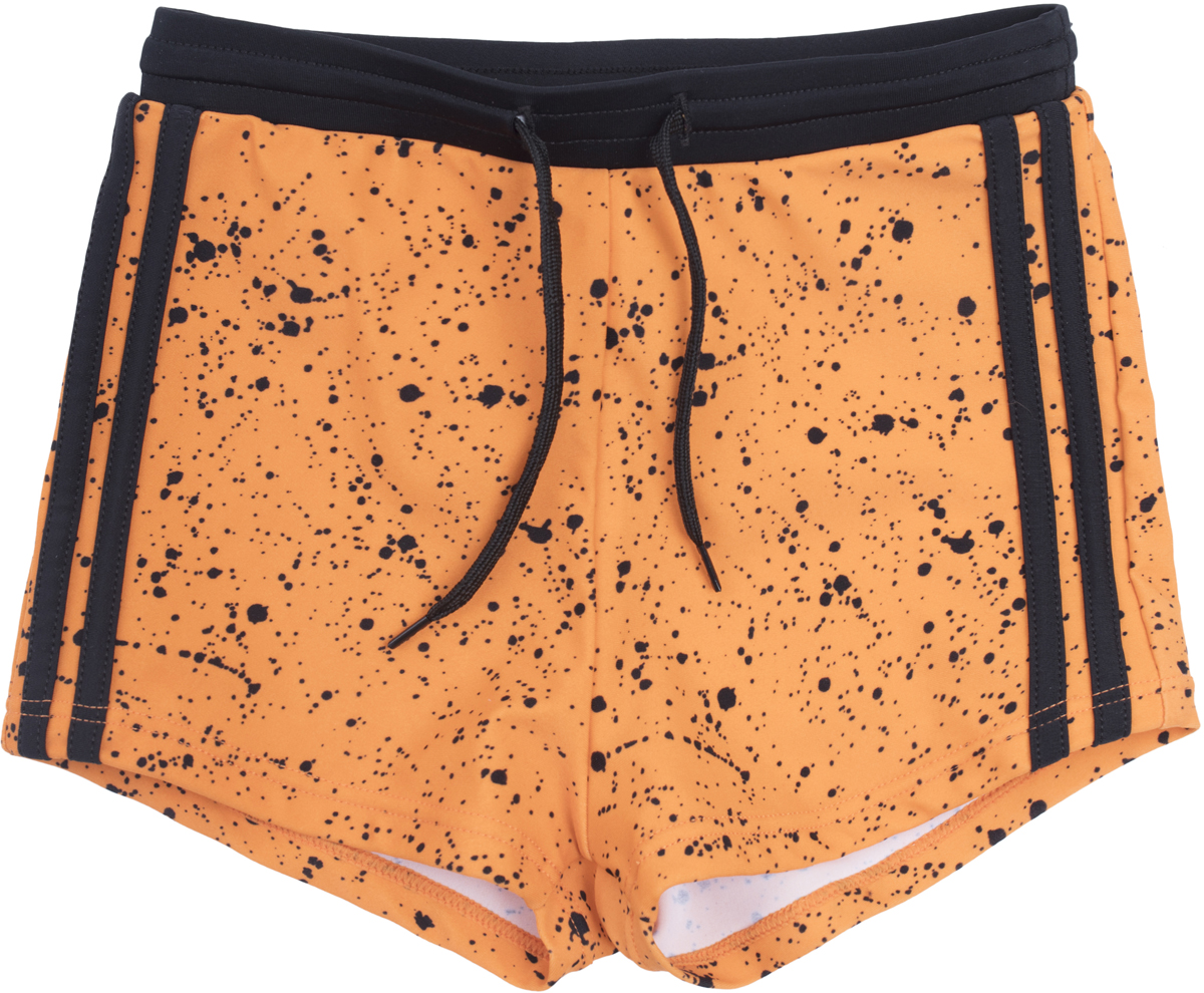 Купальные плавки для мальчиков PlayToday Sports, цвет: оранжевый. 180016. Размер 116180016Плавки выполнены из быстросохнущей эластичной ткани. Пояс на резинке, дополнен регулируемым шнуром - кулиской.