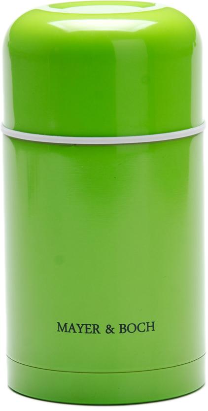 Термос Mayer & Boch, цвет: зеленый, 600 мл26634-1Универсальный термос выполнен из качественной нержавеющей стали (CrNi 18/10), которая не вступает в реакцию с содержимым термоса и не изменяет вкусовых качеств напитка. Двойная стенка из нержавеющей стали сохраняет температуру на более длительный срок. Вакуумный закручивающийся клапан предохраняет от проливаний. Крышку можно использовать как чашку. Уникальные свойства данного термоса получили высокую оценку потребителей. Данная модель термоса прочная, долговечная и небьющаяся. Прочный и надежный термос станет незаменимым помощником для рыболовов, охотников, а также его оценят путешественники и туристы. Легко и просто моется.