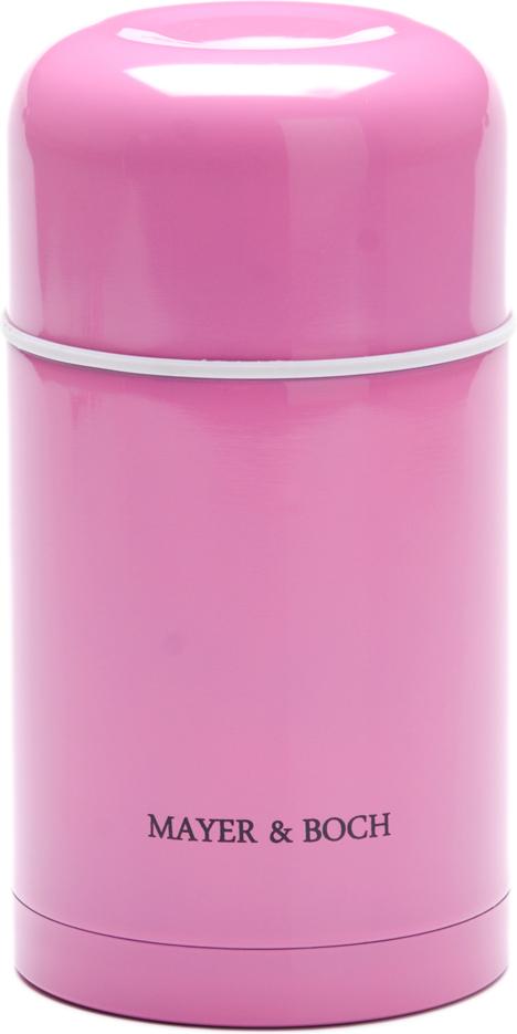 Термос Mayer & Boch, 600 мл. 26634, цвет: розовый, 600 мл. 2663426634Универсальный термос выполнен из качественной нержавеющей стали (CrNi 18/10), которая не вступает в реакцию с содержимым термоса и не изменяет вкусовых качеств напитка. Двойная стенка из нержавеющей стали сохраняет температуру на более длительный срок. Вакуумный закручивающийся клапан предохраняет от проливаний. Крышку можно использовать как чашку. Уникальные свойства данного термоса получили высокую оценку потребителей. Данная модель термоса прочная, долговечная и небьющаяся. Прочный и надежный термос станет незаменимым помощником для рыболовов, охотников, а так же его оценят путешественники и туристы. Легко и просто моется.