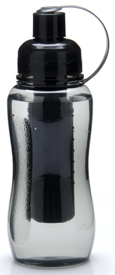 Бутылка Mayer & Boch, с емкостью для льда, 500 мл. 27092, цвет: черный, 500 мл. 2709227092Оригинальная, стильная и практичная бутылка с емкостью для льда поможет Вам всегда с собой иметь холодные напитки. Незаменимый аксессуар для прогулок по городу, вело-прогулок, на работе и в транспорте.