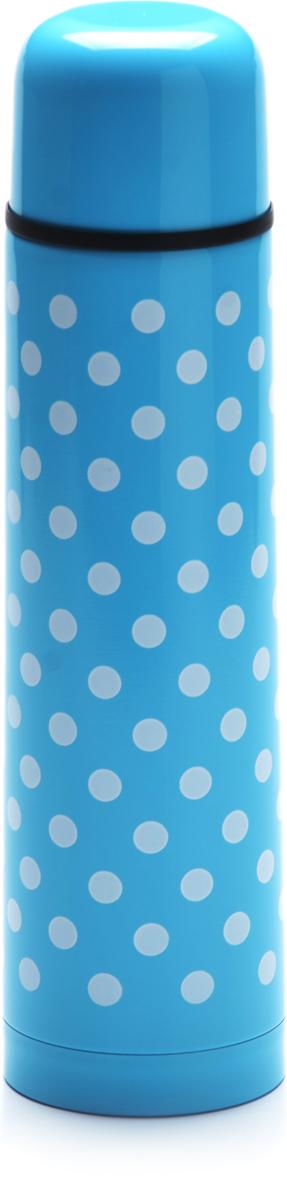 Термос Mayer & Boch, цвет: голубой, белый, 1 л27603-3Термос Mayer & Boch выполнен из качественной нержавеющей стали, которая не вступает в реакцию с содержимым термоса и не изменяет вкусовых качеств напитка. Двойная стенка из нержавеющей стали сохраняет температуру на срок до 6-ти часов. Вакуумный закручивающийся клапан предохраняет от проливаний. Цветное покрытие обеспечивает защиту от истирания корпуса. Данная модель термоса прочная, долговечная и в тоже время легкая. Стильный металлический термос понравится абсолютно всем и впишется в любой интерьер кухни. Легко и просто моется.