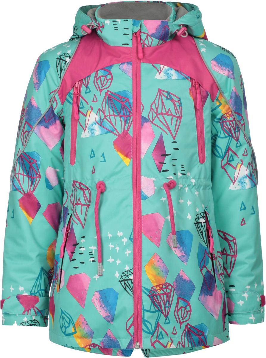 Куртка для девочек atPlay!, цвет: аквамарин. 1jk809. Размер 134 куртка для мальчика atplay цвет серый 2jk710 размер 128 8 9 лет