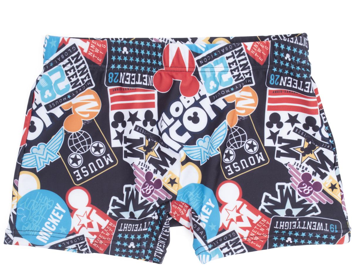 Купальные плавки для мальчиков PlayToday, цвет: черный. 680003. Размер 116680003Плавки выполнены из быстросохнущей эластичной ткани. Пояс на резинке, дополнен регулируемым шнуром - кулиской.