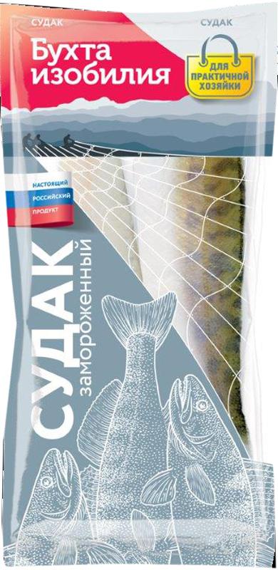 Бухта Изобилия Судак тушка, свежемороженая, 1 кг бухта изобилия треска мурманская порции 700 г