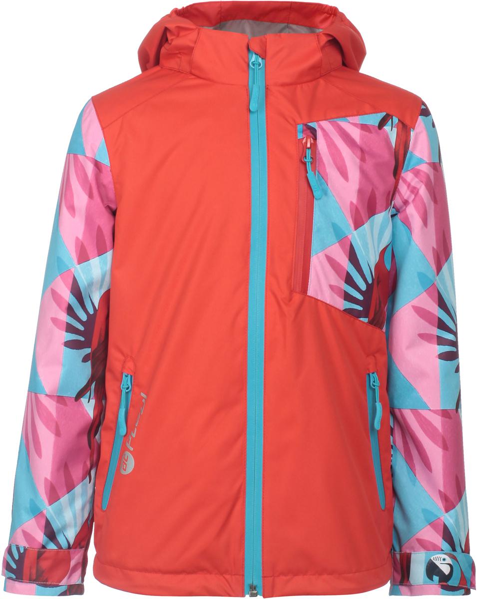 Куртка для девочек atPlay!, цвет: красный. 1jk807. Размер 1161jk807Удобная и комфортная куртка для девочки atPlay! выполнена из качественного полиэстера. Модель с воротником-стойкой застегивается на молнию с защитой подбородка. Манжеты рукавов дополнены широкими утягивающими хлястиками на липучках. Спереди модель оформлена прорезными карманами на застежках-молниях.