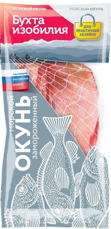 Бухта Изобилия Морской окунь тушка, свежемороженая, 1 кг бухта изобилия треска мурманская порции 700 г