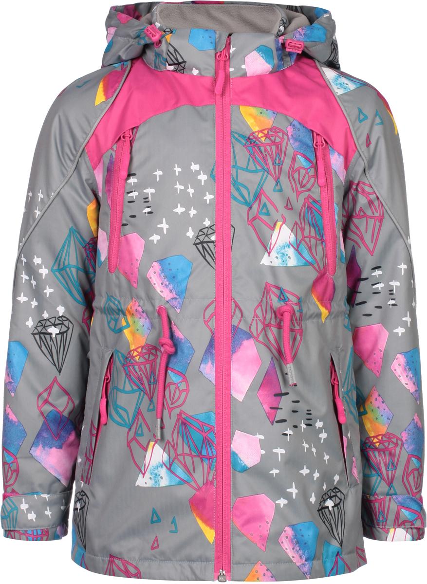Куртка для девочек atPlay!, цвет: серый. 1jk809. Размер 134 куртка для мальчика atplay цвет серый 2jk710 размер 128 8 9 лет