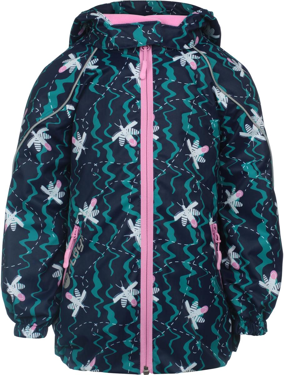Куртка для девочек atPlay!, цвет: синий. 1jk803. Размер 861jk803Удобная и комфортная куртка для девочки atPlay! выполнена из качественного полиэстера. Модель с воротником-стойкой застегивается на молнию с защитой подбородка. Манжеты рукавов дополнены эластичными вставками. Спереди модель оформлена прорезными карманами на застежках-молниях.